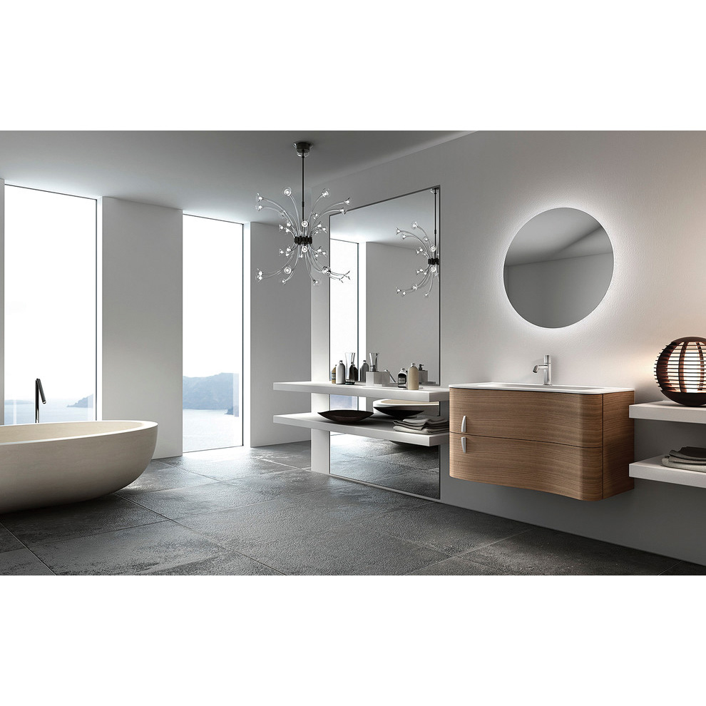 Led Backlit Round Bathroom Mirror